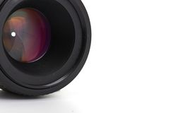 Photo lens. Isolated on a white background Royalty Free Stock Photography