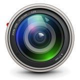 Photo lens. Camera photo lens, vector illustration Stock Photos