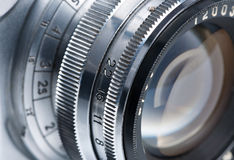 Photo lens close-up. Stock Photography