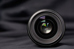 Photo lens front view on blurred Royalty Free Stock Images