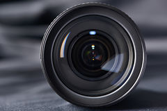 Photo lens front view on blurred Stock Photo