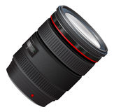 A photo lens illustration Stock Photo