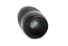 Photo lens isolated over white Royalty Free Stock Images