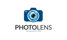 Photo Lens Logo. Minimalist and modern photo logo template. Simple work and adjusted to suit your needs Royalty Free Stock Images