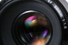 Photo lense. With umbrella reflection Royalty Free Stock Photos