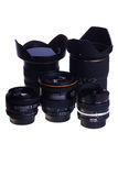 Photo lenses Stock Photography