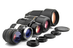 Photo lenses Royalty Free Stock Photos