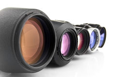 Photo lenses Royalty Free Stock Photo
