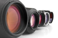 Photo lenses close-up Royalty Free Stock Images