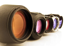 Photo Lenses Isolated On White Background Stock Photography