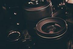 Photo Lenses Kit Royalty Free Stock Photos
