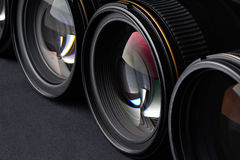 Photo lenses side view Royalty Free Stock Photo