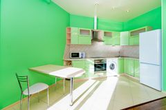 Photo of the light kitchen room stock photography