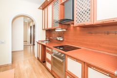 Photo of the light kitchen room royalty free stock photography
