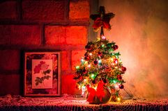 Photo of Lighted Christmas Tree Stock Photography