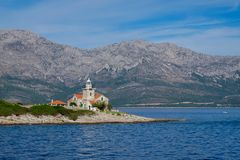 Sucuraj Lighthouse in Croatia royalty free stock images