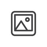 Photo line simple icon, outline vector sign Stock Photos