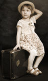 Photo little girl of retro stiles Royalty Free Stock Photos