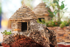 Photo of the little stone cottage Royalty Free Stock Photography