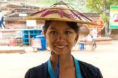 Woman at Mingun Patbodawgyi, Mingun, Myanmar Burma stock image