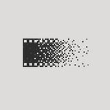 Photo logotype concept analogue digital versus. Film photography logo photographer cameraman Stock Photo