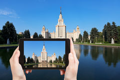 Photo of Lomonosov Moscow State University Royalty Free Stock Image