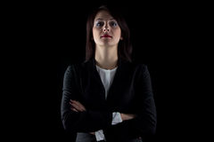 Photo looking at camera brunette business woman Royalty Free Stock Photos
