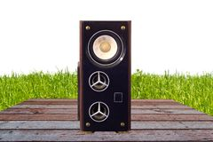 Photo of Loudspeakers enclosure Royalty Free Stock Image