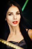 Photo lumineuse avec une belle fille Photographie stock libre de droits