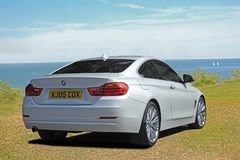 Bmw sports car coupe luxury. Photo of a luxury expensive modern bmw sports car on display at whitstable outdoor car show june 2018 Stock Photo