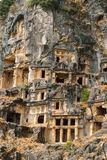 Photo the Lycia of tombs in Turkey, the city of the World Stock Photo