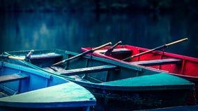 Photo mémorable avec des bateaux Image libre de droits
