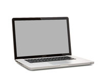 Photo of a MacBook Pro. MacBook Pro is a laptop developed by Apple Inc. Photo taken on:  MAY 10 , 2014 Stock Images