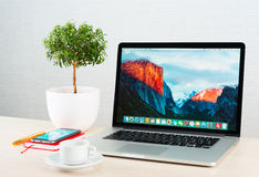 Photo of Macbook pro Royalty Free Stock Photo