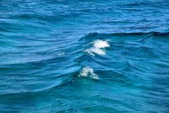 Photo of a macro of blue sea waves Stock Image