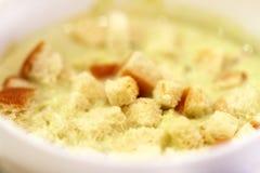 Photo macro background of a tasty cream soup Stock Photos