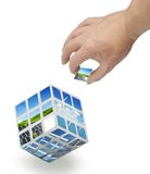 Photo magic cube Royalty Free Stock Image