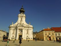 Main square in Wadowice royalty free stock images