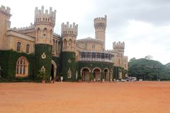 Photo of Majestic & iconic Bangalore Royal Palace. Photo of Majestic and iconic Bangalore Royal Palace located in the heart of capital city of karnataka near Stock Image