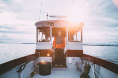 Photo of Man in Boat during Daytime Royalty Free Stock Images