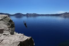 Photo of Man Diving in to Water Royalty Free Stock Images