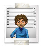 Photo of man on identification card Stock Image