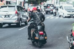 Photo of Man Riding Motorcycle on the Road Royalty Free Stock Photography