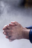 Photo of this man's hands Royalty Free Stock Photos