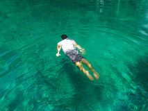 Photo of Man Swimming On Clear Water Royalty Free Stock Photography