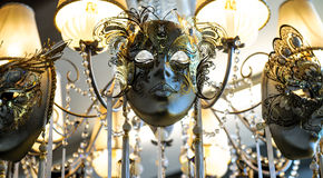Mask chandelier Royalty Free Stock Photography