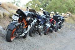 Best bike trip in mountain royalty free stock image