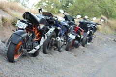 best bike trip in mountain hills station stock photo