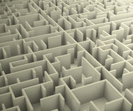 Photo of the maze. 3d generated picture of a maze royalty free illustration