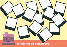 Photo Memory Board Background Royalty Free Stock Image